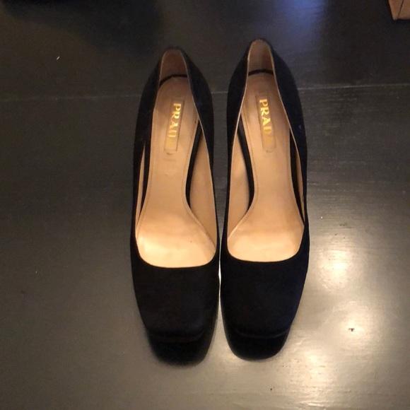 Prada Shoes | Pradasuede Square Toe